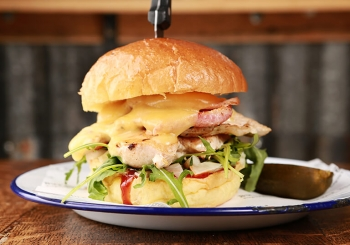 Shed funky chicken burger